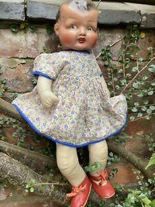 """1940s Betty composition  painted head doll 16"""""""