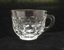Vintage Federal Glass Yorktown Colonial Clear Handled Cup Pressed Oval Design