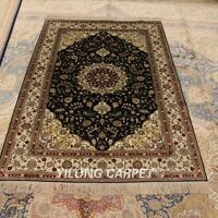YILONG 4'x6' Handknotted Silk Carpet Kid Friendly Home Indoor Area Rug LH975B