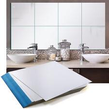 32 Espejos Adhesivo Decorativo PET de Pared 15*15cm Cuadrada para Hogar Baño