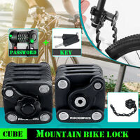 Folding Anti Theft Lock Security For Mountain Bike Bicycle With Password & Key