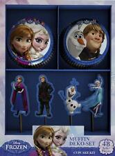 """Muffins-Papierbackförmchen und Deko-Picker """"EISKÖNIGIN"""" Frozen, Anna Elsa Olaf…"""