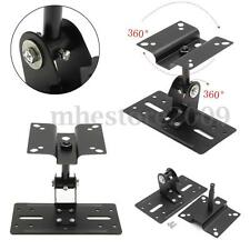 Theater Metal Adjustable Speaker Ceiling Stand Wall Mount Brackets 15kg Load MH