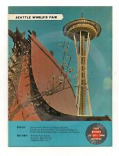 "1962 SEATTLE WORLD'S FAIR Picture Record Postcard ""World's Fair Seattle"" #1"