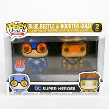 Funko POP Heroes: Blue Beetle & Booster Gold (Metallic Version) PX Previews Excl