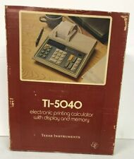 Texas Instruments Electronic Printing Calculator With Display And Memory