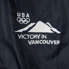 USA Victory In Vancouver 2010 Olympic Windbreaker Jacket Men's Full Zip Size L