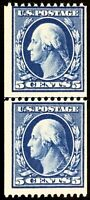 #351 Mint OG NH, Scarce Never Hinged 5¢ Coil L.P. w/Clean PF Cert SCV $2350