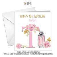 PERSONALISED cute pretty female birthday card 18th 21st 30th 40th 50th 60th any!
