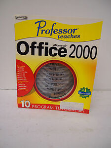 PROFESSOR TEACHES 7 CD LOT WINDOWS OFFICE 2000