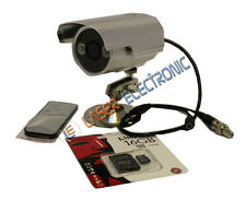 Telecamera Videosorveglianza con LED Infrarossi e DVR integrato + SD Card 16GB