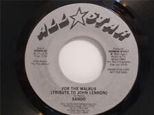 Sando - For The Walrus (Tribute To John Lennon) Usa 45 Without Picture Sleeve