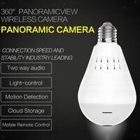 WiFi Wireless 360 ° Fisheye Lampadina nascosta Lampada spia Sicurezza telecamera