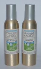 2 YANKEE CANDLE CLEAN COTTON CONCENTRATED ROOM SPRAY PERFUME AIR FRESHENER CAN
