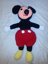 mickey mouse 23 inch Doll Euc Collectible Vintage crochet