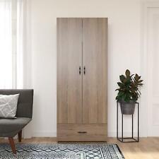 RealRooms Hax 2 Door Storage Cabinet, Kitchen and Pantry Organizer, Rustic Oak