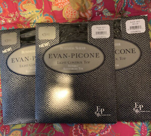 Vtg Lot of 3 Evan Picone Black Onyx Nylon Pantyhose Invisibly Toe Sz M