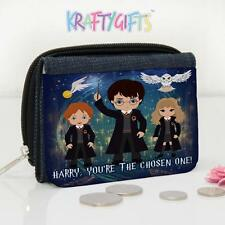 Personalised Harry Potter Magic Girls Lunch Denim Coin Money Purse ET07