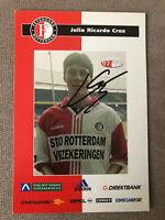 Julio Cruz Original Signiertes Karte Feyenoord Inter Milan Bologna Lazio