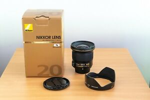 Nikon 20mm f/1.8 G ED AF-S Lens Excellent Condition with Box
