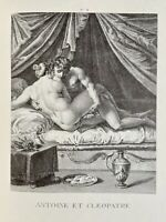 A. Carracci Erotic Penis Akt Vagina Kleopatra Marcus Antonius Love Art Antique