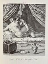 Agostino Carracci Erotik Penis Akt Vagina Kleopatra Marcus Antonius Austern