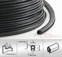1m Kantenschutz Kederband Gummiprofil Dichtprofil KB 1-3mm PVC schwarz 1C10-10