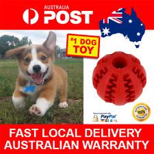 Dog Puppy Rubber Ball Treat Dispenser Dental Chew Peanut Butter Food Toy