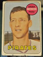 1969 Topps Baseball Card, #596 - Pirates, Chuck Hartenstein - EX