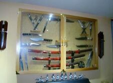 CUSOM MADE DISPLAY KNIFE STANDS, PLAQUES, CASES. EXOTIC WOODS AND MATERIALS!!