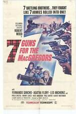 7 GUNS FOR THE MACGREGORS Movie POSTER 27x40 Robert Woods Fernando Sancho Agata
