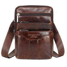 Leather Shoulder Messenger Bag for Men Business Crossbody Pack Wallet Sling Bag