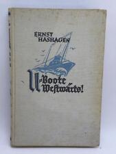 U BOOTE Westwaerts 1914 1918 Hashagen 1931 libro sottomarino submarine U boot