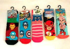 Girls Boys Character Slipper Socks Uk Size  3-5.5  6-8.5  9-12  New