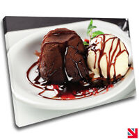Ice Cream Pudding Dessert Food Kitchen Restaurant CANVAS Wall Art Picture Print