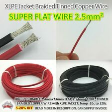 FLAT ELECTRICAL POWER CABLE 2.5 XLPE Low Smoke Halogen Free Braided Tinned Wire