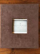 Pottery Barn Mesa Everday Suede Frame Clove NIB Photo Box/album