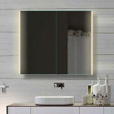 Alu LED Badezimmer Spiegelchrank Badspiegel Kalt& Warmlicht & Steckdose HLC80H72