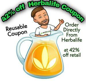 HERBALIFE NUTRITION 42% OFF DISCOUNT CODE