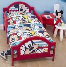 DISNEY Mickey Mouse Junior Lettino Lenzuola Copripiumino Cuscino 4 in 1 Bundle
