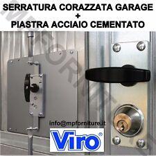 SERRATURA ANTIFURTO VIRO 8217 CON BARRE E PIASTRA GARAGE BASCULANTE RINFORZATA