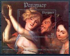 Paraguay 1984 Block 397 Gemälde Watteau Painting Kunst Art Akt Nude MNH