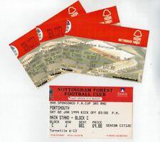 4 x 1999 & 2002 NOTTINGHAM FOREST v PORTSMOUTH Match Tickets