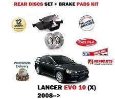 FOR MITSUBISHI EVO X 10 + IMPORT 2.0i 2007 > REAR BRAKE DISCS SET + PADS set