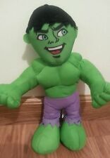 Incredible Hulk Marvel Super Hero Squad  13 Inch Plush Toy Clean Ex Shape