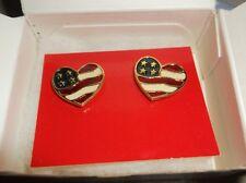 Avon Heart Of America Earrings Surgical Steel Post
