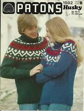 Patons Men's Sweaters/Clothes Crocheting & Knitting Patterns