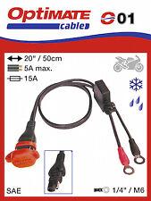 OptiMATE CABLE O-01 Weatherproof battery Power Lead, UK Supplier & Warranty NEW