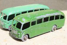 MATCHBOX 21b BEDFORD DUPLE COACH...RARE DARK GREEN good condition 1950s