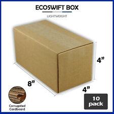 10 8x4x4 Ecoswift Brand Cardboard Box Packing Mailing Shipping Corrugated